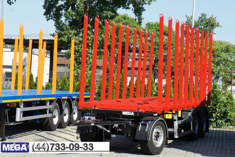 καινούριο ρυμουλκούμενο μεταφοράς ξυλείας MEGA 10 stanchions