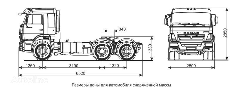 τράκτορας KAMAZ Sedelnyy tyagach KAMAZ-65116 (6h4)